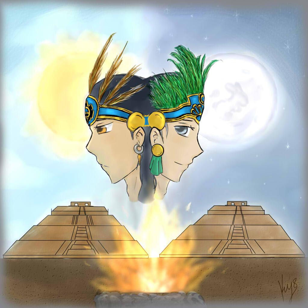 leyenda de las piramides de la luna y el sol
