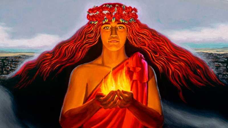 leyenda de la diosa de los volcanes
