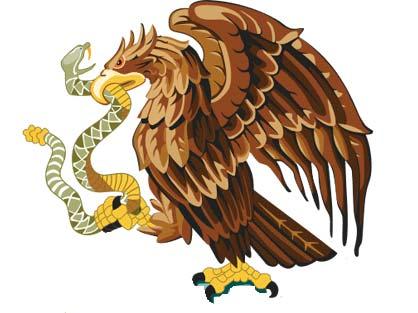 leyenda del aguila en el escudo mexicano