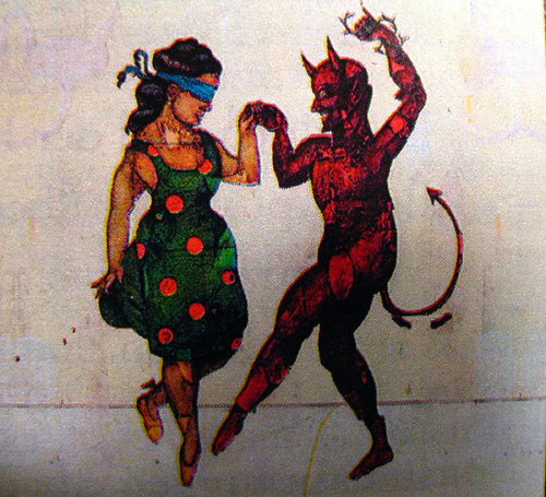 leyenda del diablo en la discoteca